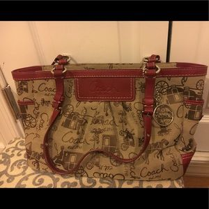 Coach Gallery Horse & Carriage Tote Shoulder Bag